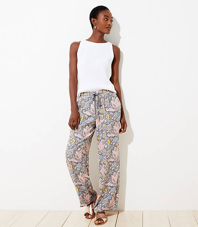 Blossom Fluid Drawstring Pants by Loft