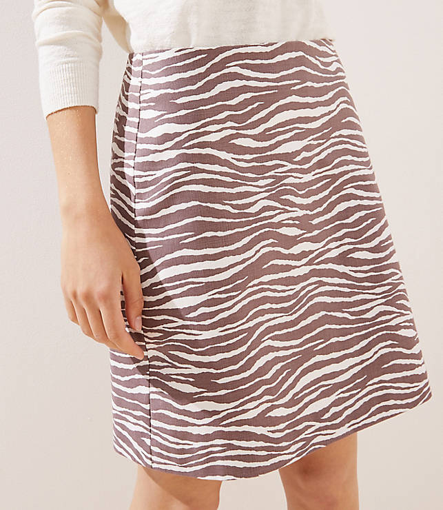 Zebra Shift Skirt by Loft