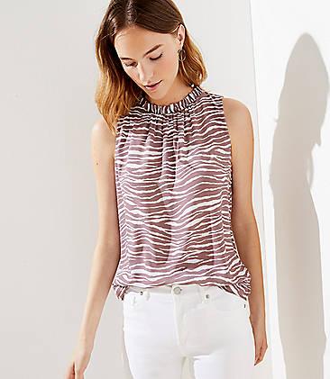 d30a25b4ae64 Zebra Print Tie Back Shell