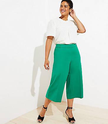 Wide Leg Plus Size Pants for Women   LOFT