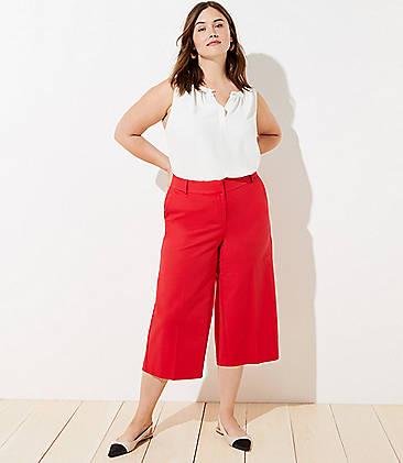 Red Plus Size Pants for Women | LOFT