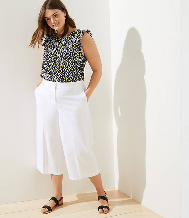 loft-plus-wide-leg-riviera-pants by loft