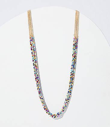 92f1e8c23b71e Beaded Multistrand Necklace