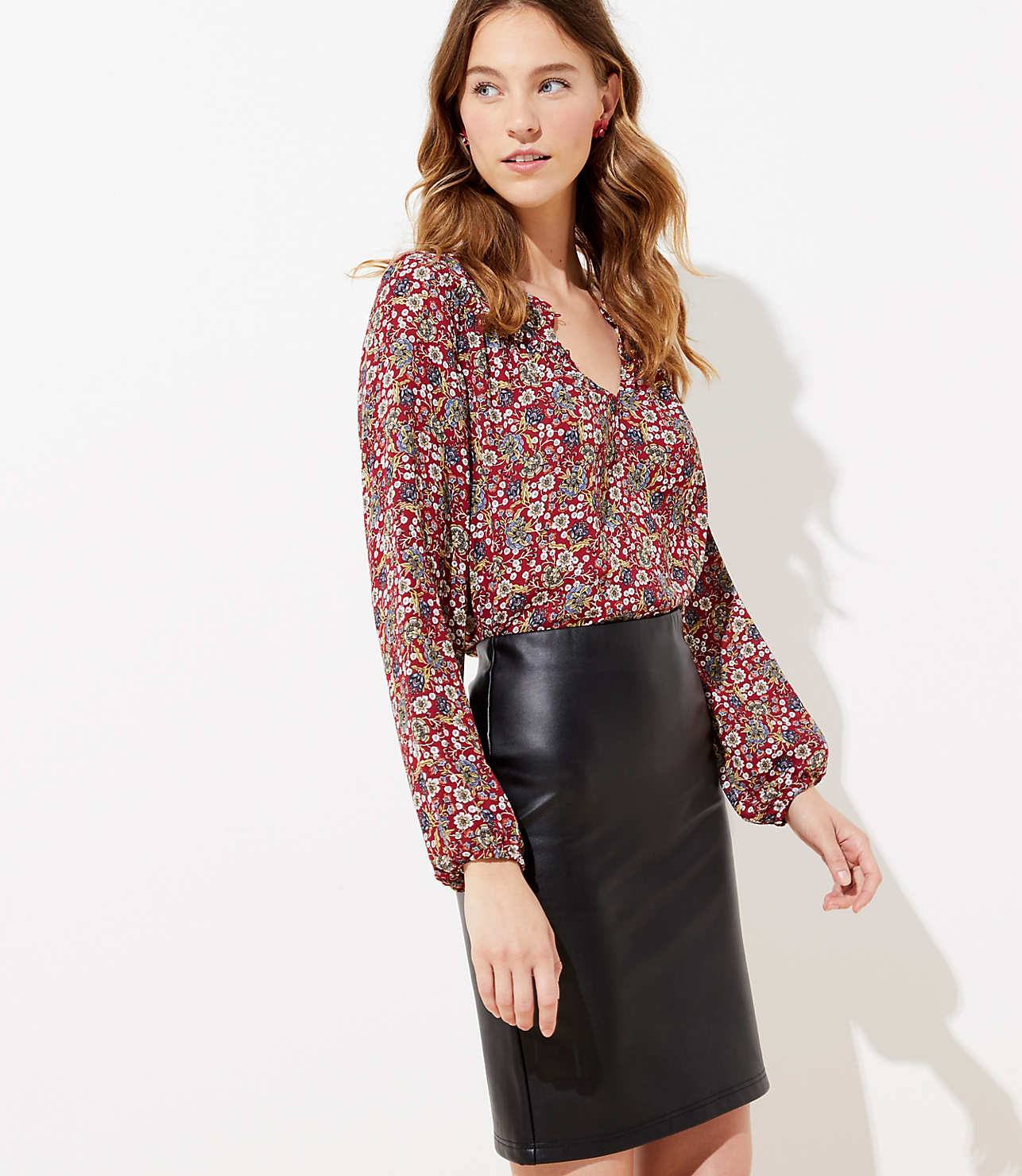 great deals special buy provide large selection of Faux Leather Pull On Pencil Skirt   LOFT