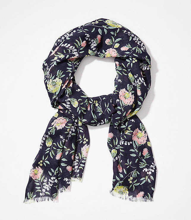 8ce2be20c4e64 Tossed Floral Scarf | LOFT