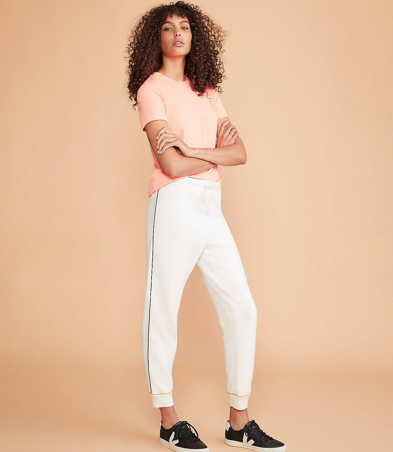 Piped Terry Sweatpants by Lou & Grey