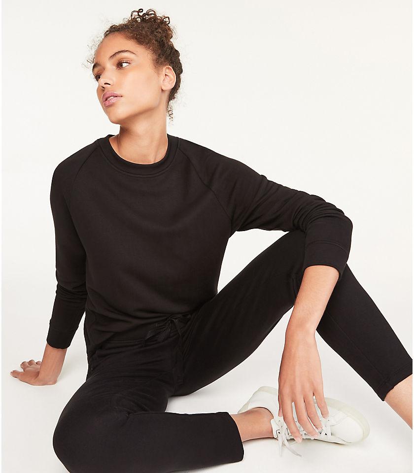 로프트 LOFT Lou & Grey Signature Softblend Sweatshirt,Black