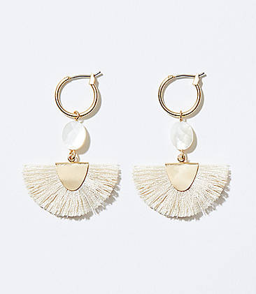 ecc9a80c3 Fringe Fan Drop Earrings