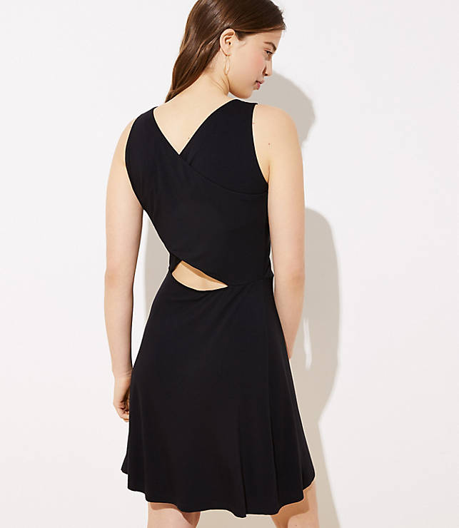 Cutout Back Knit Flare Dress by Loft