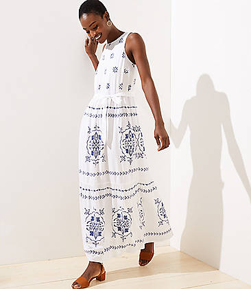 529bd6f14ae7 Petite Mosaic Tiered Maxi Dress