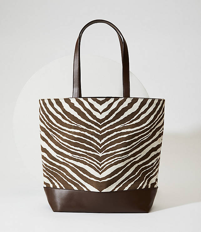 Zebra Print Tote Bag by Loft