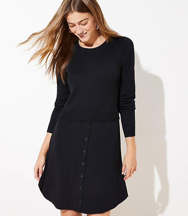 Mixed Media Sweater Dress