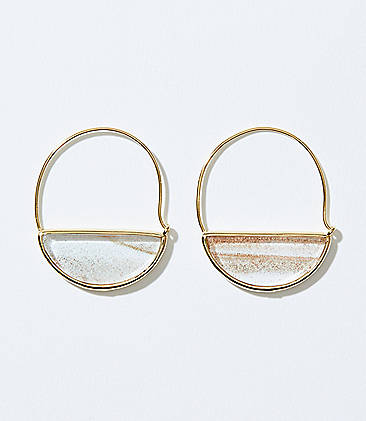 2469f45ba Glitter Pull Through Hoop Earrings