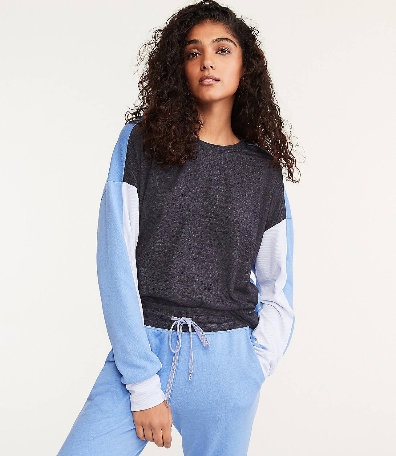 Sundry Colorblock Sweatshirt by Lou & Grey