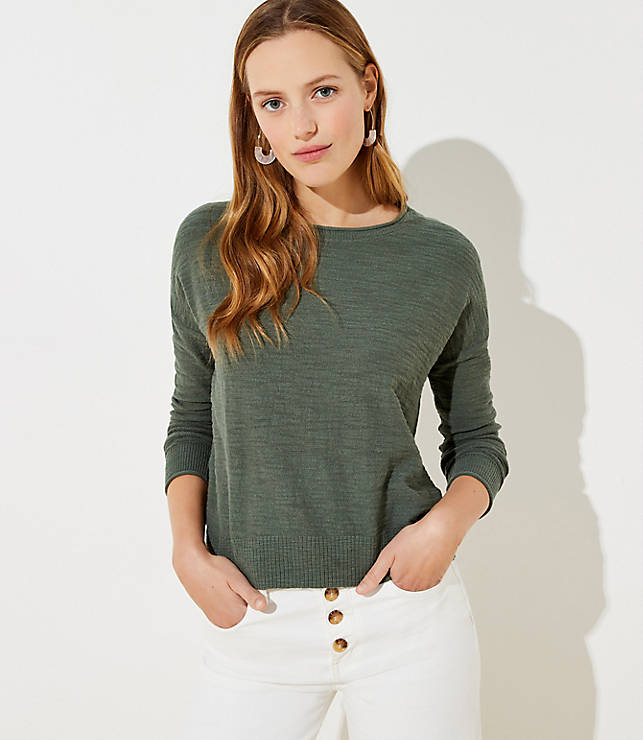 Elliptical Hem Sweater