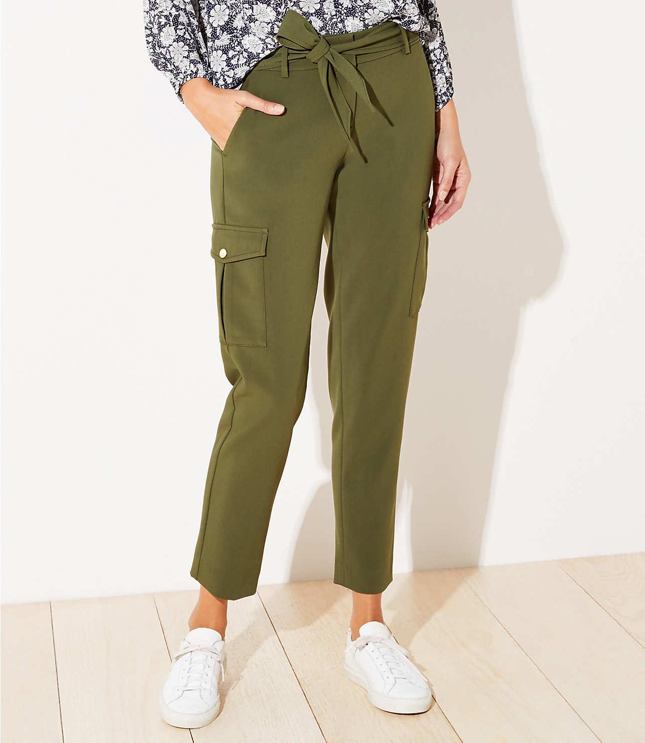 outlet store latest design super cute Slim Tie Waist Cargo Pants | LOFT