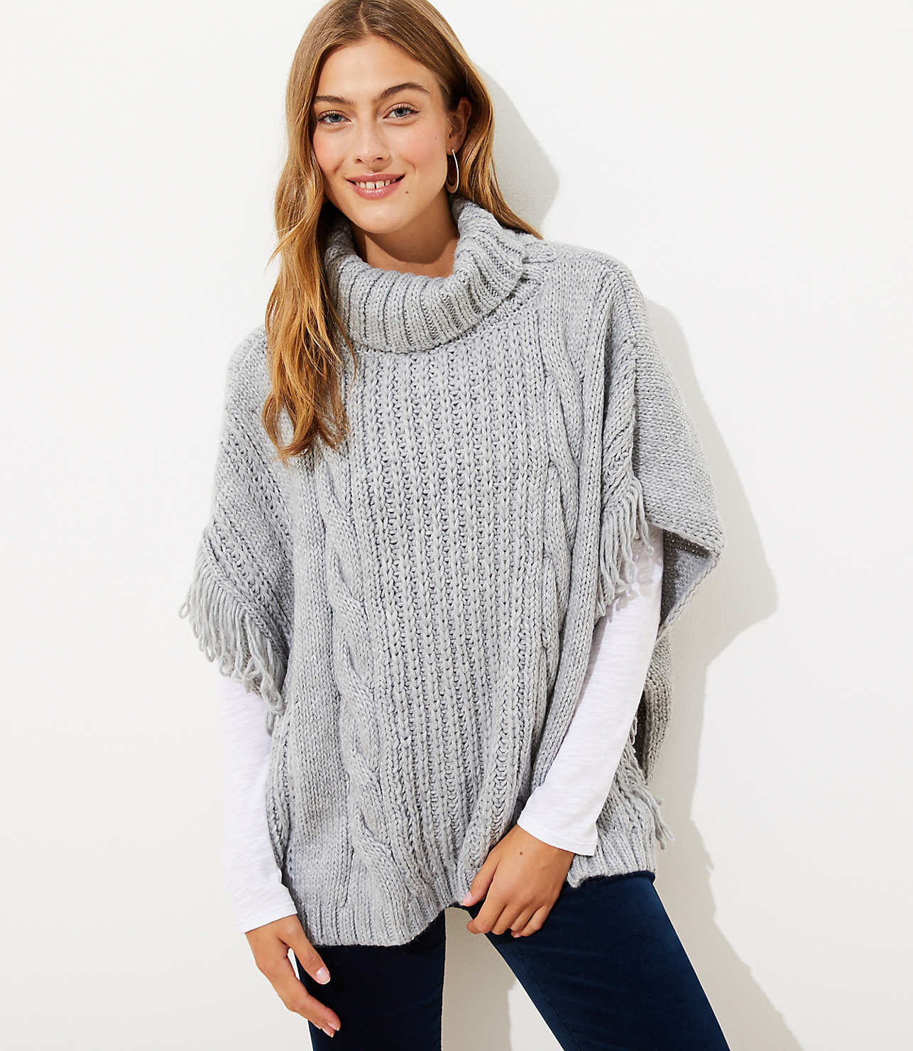 Cable Poncho