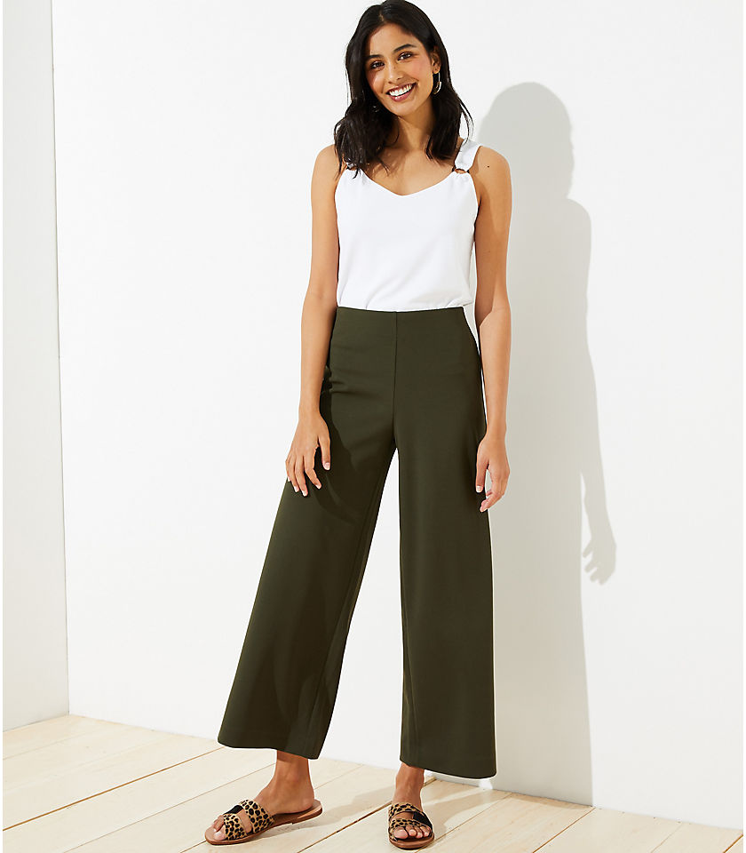 Pull On Wide Leg Pants color Dark Caper