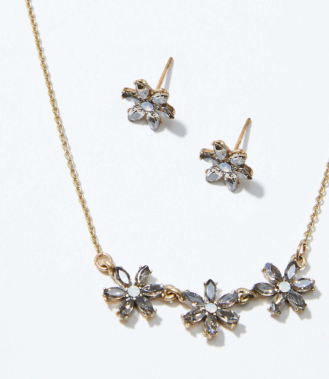 Flower Earring Necklace Set Loft