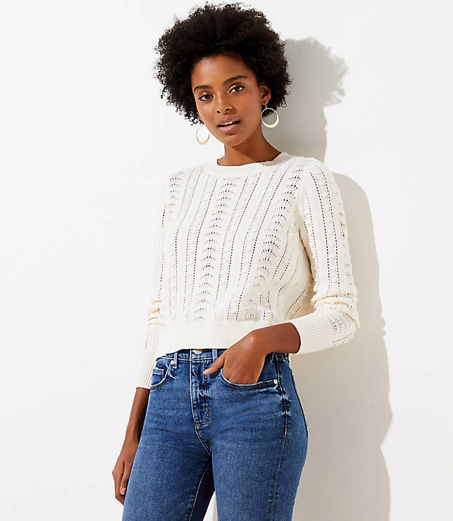 Bobble Cropped Sweater