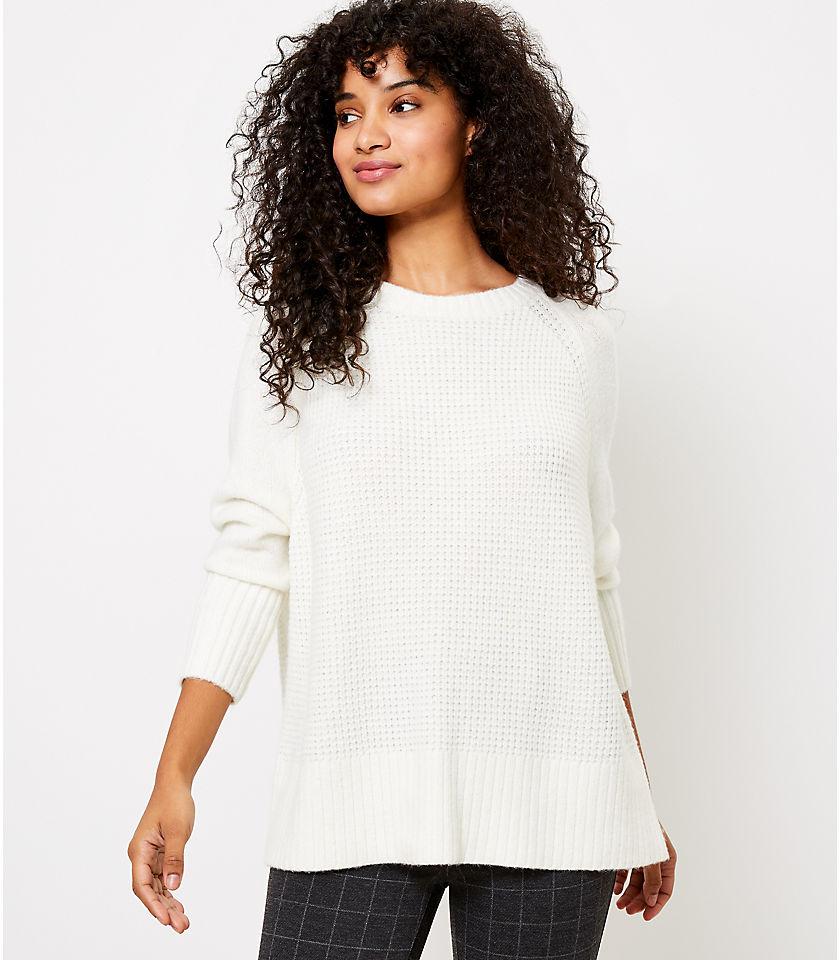로프트 LOFT Stitched Dolman Sweater