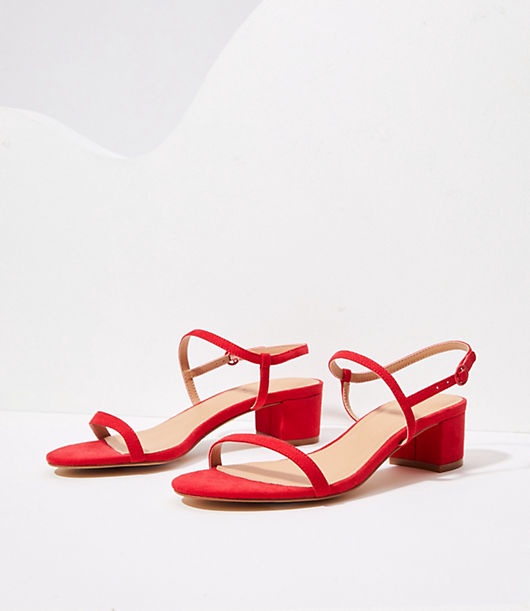 Sleek and strappy, these versatile sandals are perpetually polished. Adjustable buckle ankle strap. Padded footbed for comfort. 1 1/2\\\