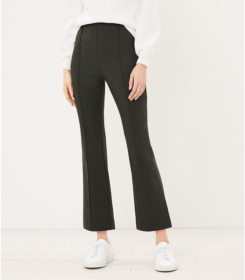 로프트 LOFT Side Zip Kick Crop Pants,White