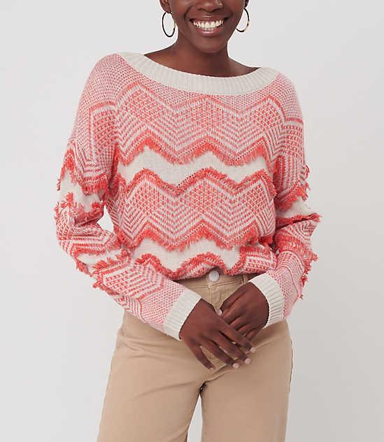 Zig Zag Fringe Sweater