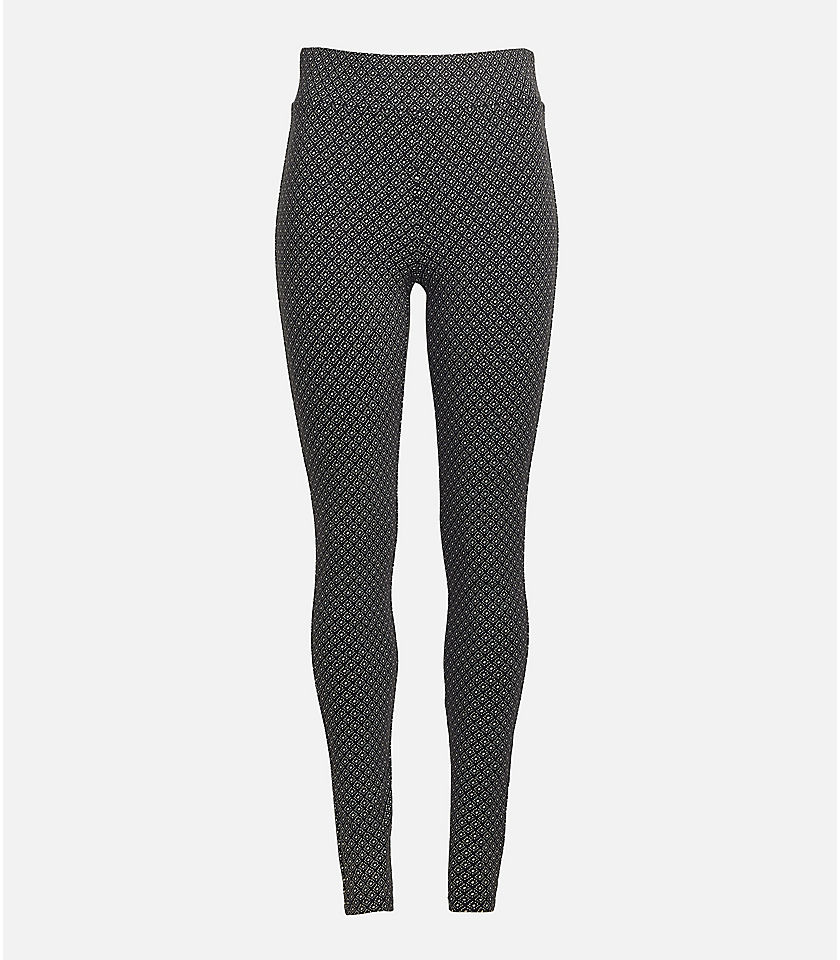 로프트 LOFT Dotted Leggings,Black