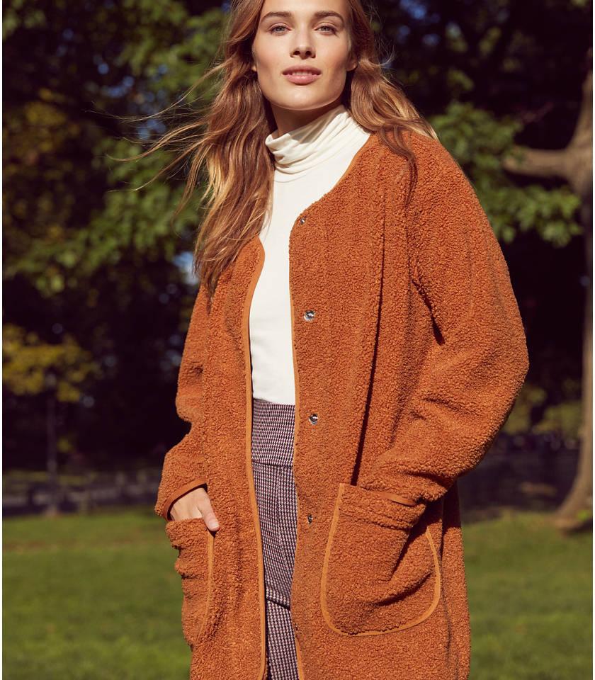 로프트 LOFT Lou & Grey Cozy Up Coat,Brilliant Copper