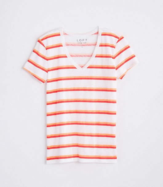 Works in any season, anytime, anywhere (so best to get one in every color). V-neck. Short sleeves. Loft Striped Everyday V-Neck Tee