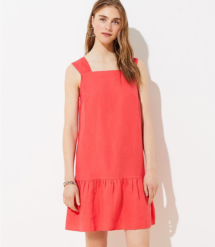Square Neck Flounce Dress