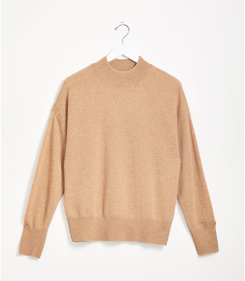 로프트 LOFT Lou & Grey Cashmere Mock Neck Sweater