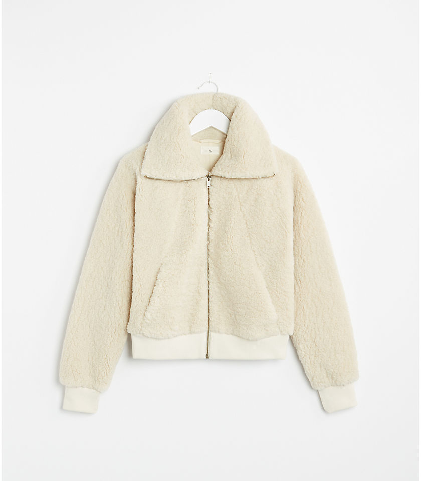 로프트 LOFT Lou & Grey Cozy Up Teddy Jacket