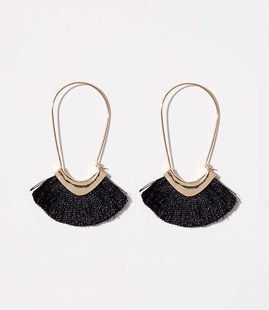 Fringe Hoop Earrings