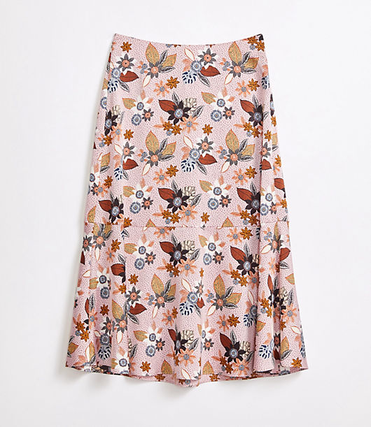 This fluted midi skirt fits and flows like a dream. Side zip. Loft Petite Fluted Midi Skirt