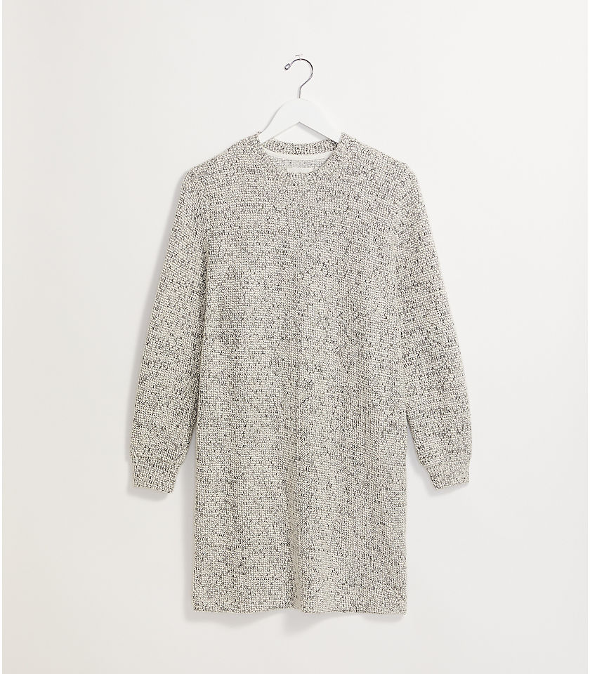 로프트 LOFT Lou & Grey Tweedy Dress,Ivory Multi
