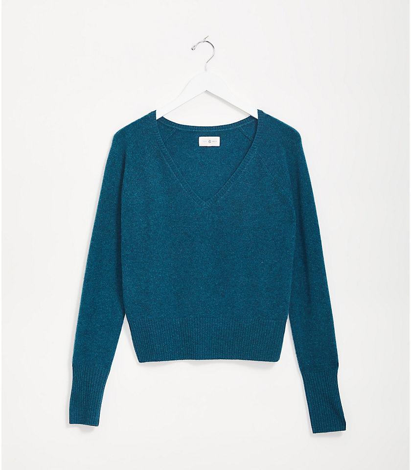 로프트 LOFT Lou & Grey Cashmere V-Neck Sweater