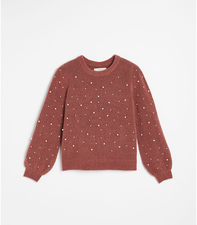 로프트 LOFT Pearlized Sweater,Elegant Rose