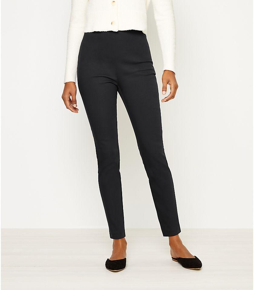 로프트 LOFT Side Zip Skinny Pants,Black