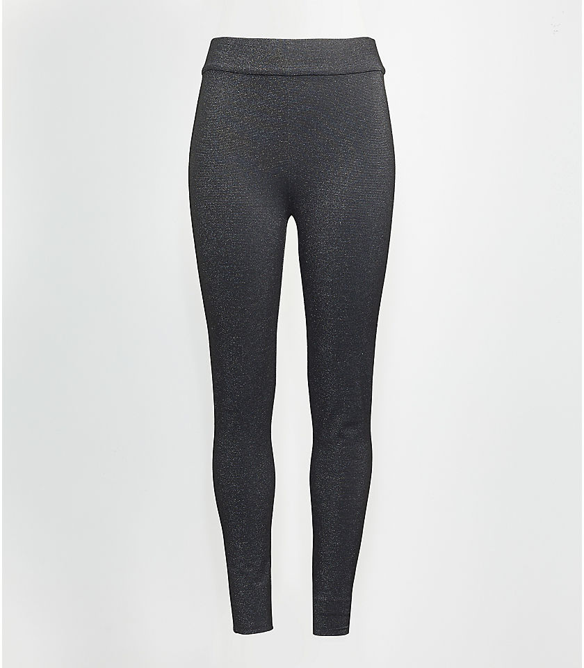 로프트 LOFT Shimmer Ponte Leggings,Black