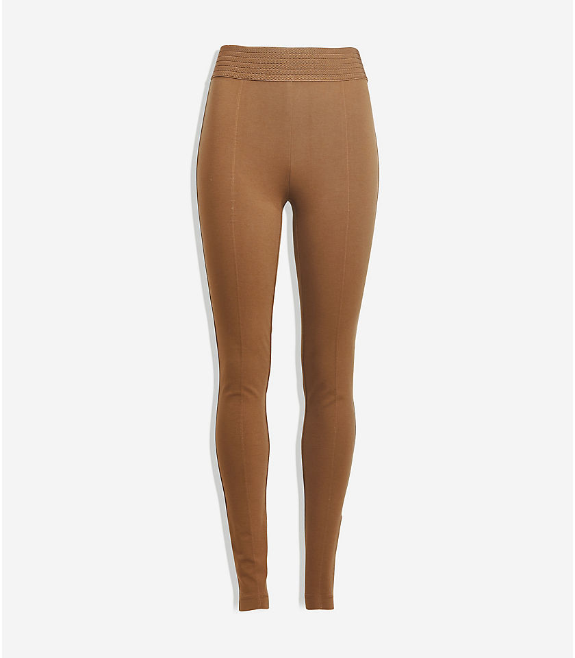 로프트 LOFT Herringbone Leggings,Golden Tan