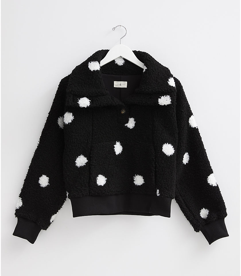 로프트 LOFT Lou & Grey Dotted Cozy Up Popover,Black Multi