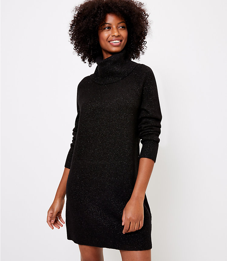 Shimmer Cowl Neck Sweater Dress $11.96