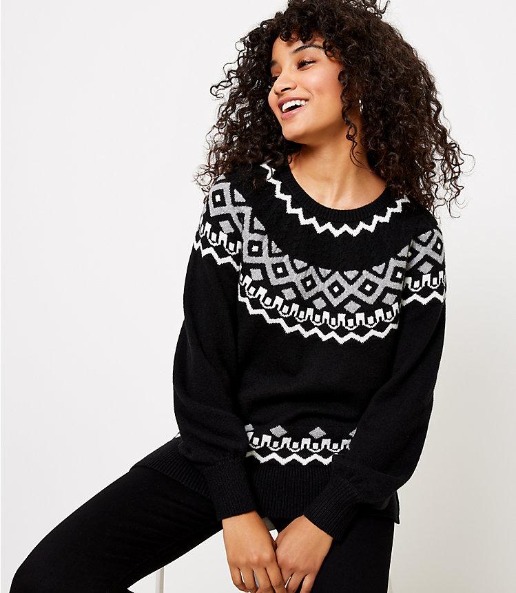 Cable Fair Isle Sweater
