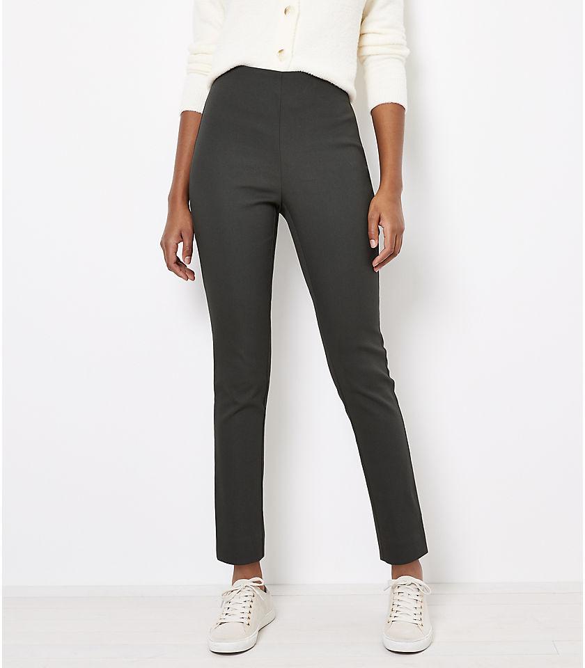 로프트 LOFT Curvy Side Zip Skinny Pants,Black