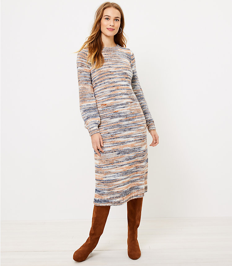 LOFT: Spacedye Midi Sweater Dress  $12.44