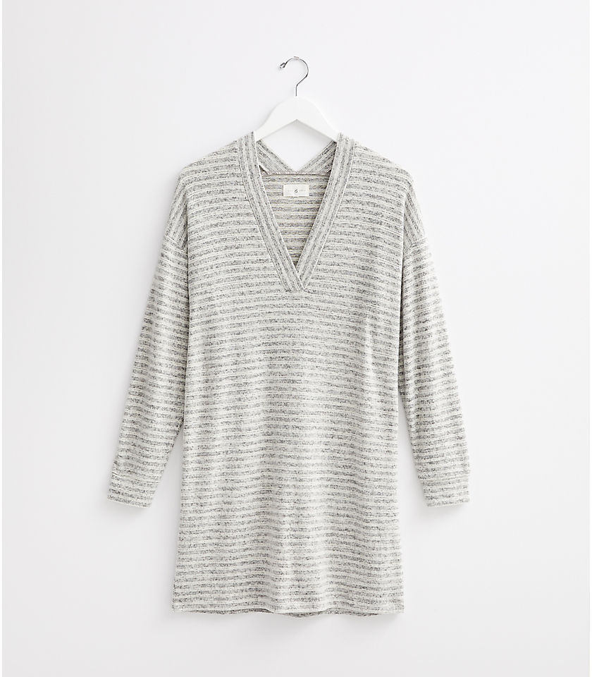 로프트 LOFT Lou & Grey Striped Brushmarl V-Neck Dress