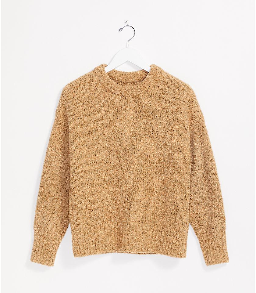 로프트 LOFT Lou & Grey Ribtrim Mock Neck Sweater
