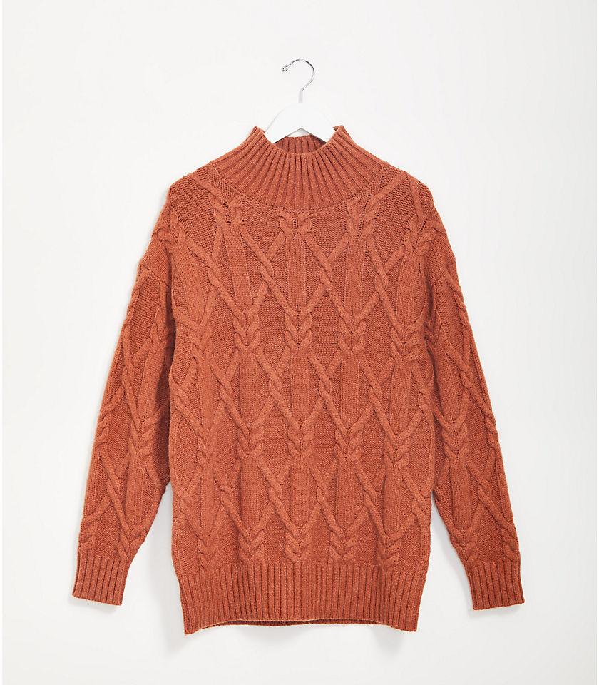 로프트 LOFT Lou & Grey Cable Tunic Sweater
